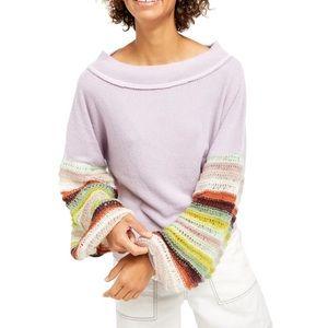 Free People Cha Cha Balloon Sleeve Top Sweater